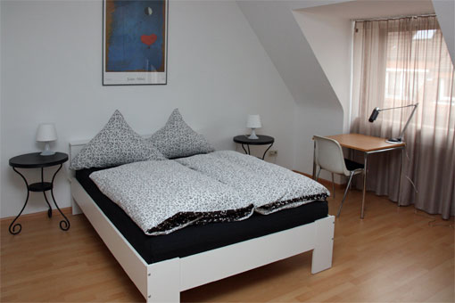 1-bedroom apartment - bedroom